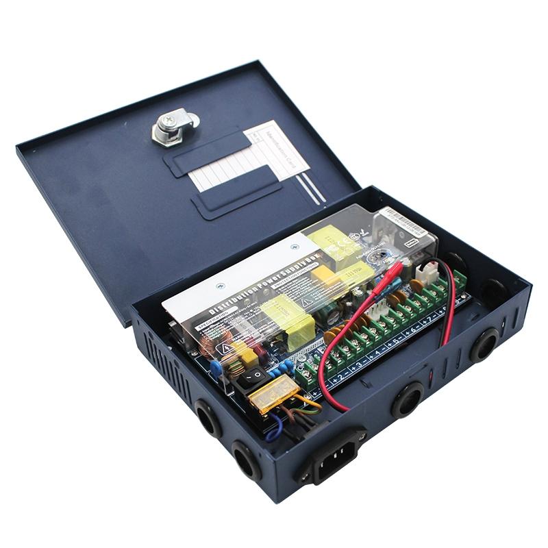 蓝色箱式9路直流电源12V/120W规格