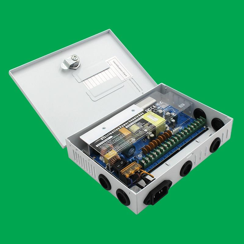白色箱式9路直流电源12V/120W规格(不支持UPS)