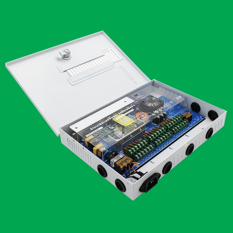 白色箱式18路直流电源12V/240W规格(不支持UPS)